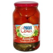 """Assorti, Tomatoes And Cucumbers """"My Family"""" 860g (SOB)"""