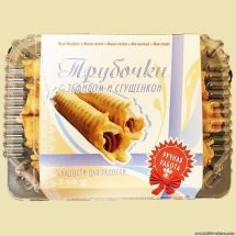 Wafer rolls with condensed milk and marshmallow  340g